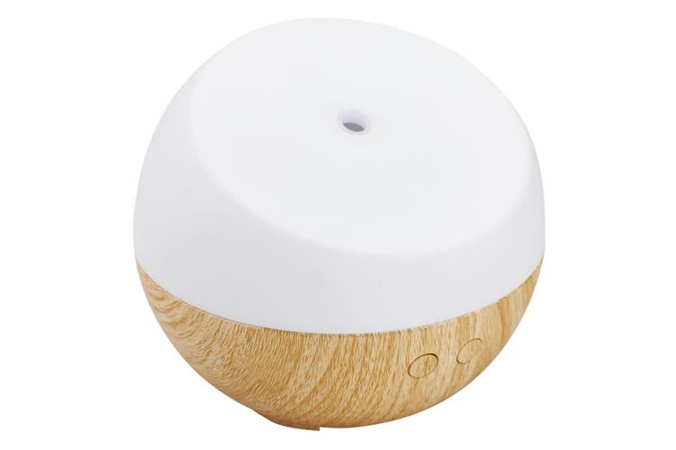 Homedics Dream Ultrasonic Aroma Oil Diffuser/Colour Changing Lamp/Therapy Beech