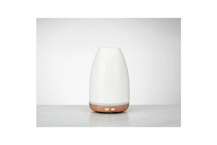 Homedics Ellia Relax Ultrasonic Aromatherapy Essential Lights Oil Diffuser White