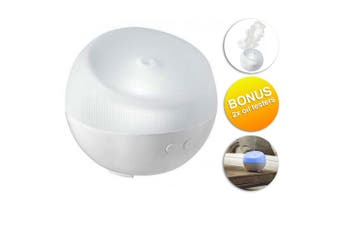 Homedics Dream Ultrasonic Aroma Oil Diffuser/Colour Changing Lamp Light/Therapy