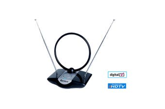 Sansai Amplified Indoor TV Antenna Analogue/Digital Signal VHF/UHF/FM/HDTV/DAB