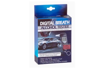 Digital Breath Alcohol Professional Tester LCD Analyser/Breathalyser Test Black