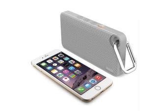 iLuv Mini Smart 6 Wireless Bluetooth Speaker w/Mic/FM Radio for Smartphone Gray