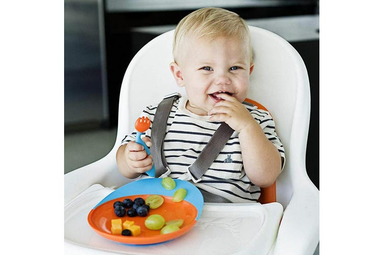 2PK Boon Baby/Toddler 9m+ Feeding Catch Food Catcher Plate w/ Suction Base PK/PP