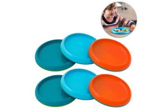 Boon 6pc Boys Non Skid Plate 9m+ Baby/Kids Table Bowl Safe Food PVC/BPA Free