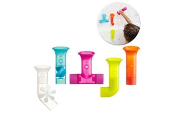 Boon 5pc Pipes Building Bath Toy Suction Set Tub/Shower Play/Fun Kids/Toddler