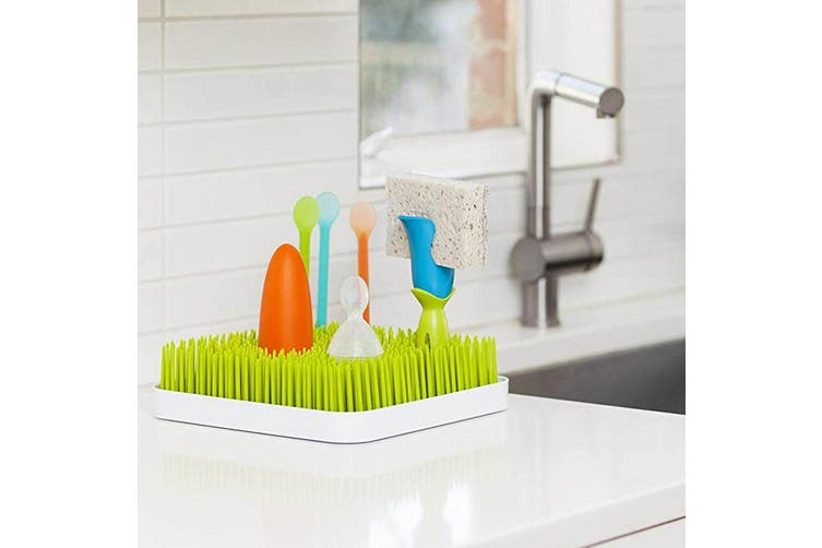 2PK Boon Bud Baby Bottle/Feeding Drying Rack Accessories for Lawn Countertop GRN