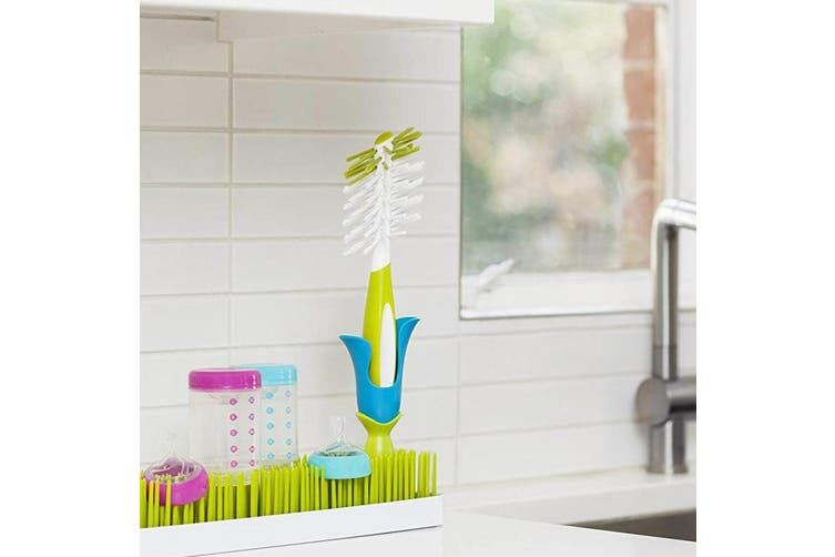 4PK Boon Bud Baby Bottle/Feeding Drying Rack Accessories for Lawn Countertop GRN