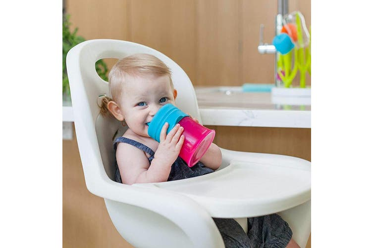 9pc Boon Snug Spout Baby/Girl/9m+/Toddler Cup Universal Cover/Lid Blue/Pink/PP