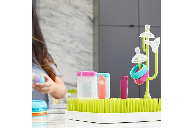 Boon Poke Baby Bottle/Feeding Drying Rack Accessories for Grass Countertop Green