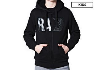 Russell Athletic Boys' Department Sherpa Hoodie Fleece Jacket Kids Size 10 Black
