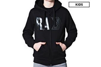Russell Athletic Boys' Department Sherpa Hoodie Fleece Jacket Kids Size 10 Black