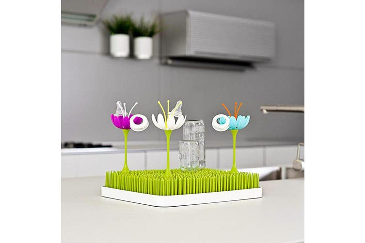 Boon Stem Drying Rack Baby/Infant Accessories for Grass/Lawn Countertop Blue/OR