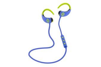 Moki Octane Wireless Bluetooth Earphones Ear-hooks Sports Headset w/Mic Blue
