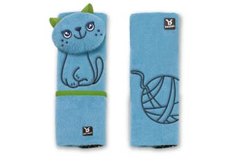 Benbat Cat Pals Car Seat Belt Safety Cover 1-4y Baby/Kids/Children Strap/Pads BL