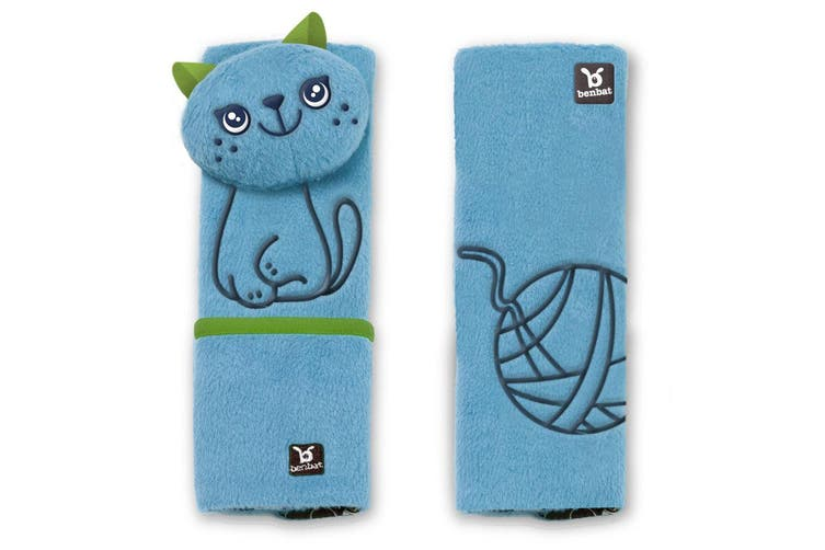 2PK Benbat Cat Pals Car Seat Belt Safety Cover 1-4y Baby/Children Strap/Pads BL