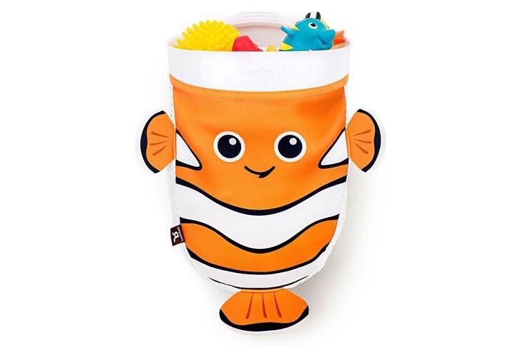 BenBat Scoop & Store Bath Basket Fish Baby 0m+ Toys Scooper Organizer Orange/WHT