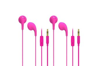 2PK iLuv Pink Bubble Gum Talk Earphones Headset/Mic for iPhone/iPad/IOS Android