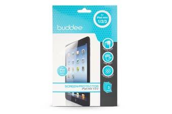 3PK Buddee Clear Screen Protector Film Shield Guard For Apple iPad Mini 1/2/3