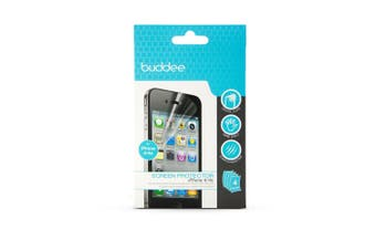Buddee 4PK Crystal Clear Screen Protector Cover Film Guard for Apple/iPhone 4/4s