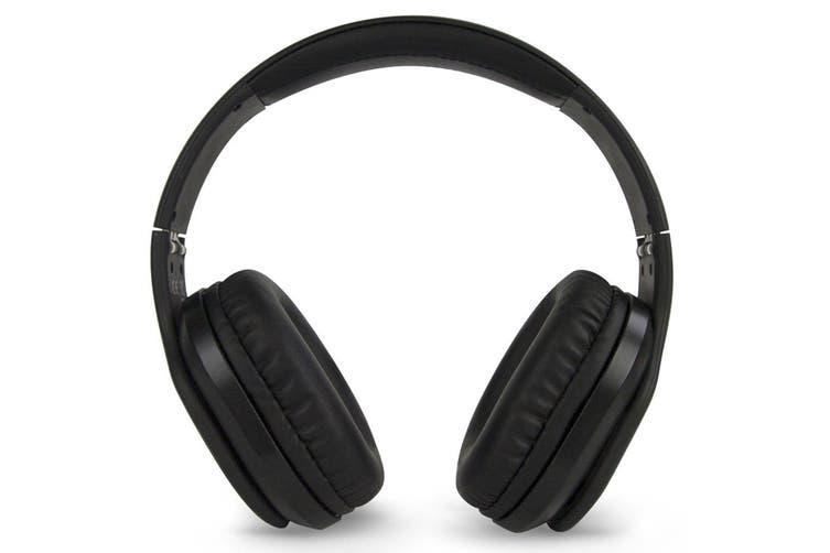Buddee Bluetooth Over-Ear Headphones/ANC Noise Cancelling/On-ear Controls Black
