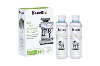 2pc Breville 120ml 2-in-1 Eco Liquid Cleaner/Descaler f/ Coffee Machines/Kettle