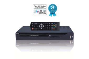 Laser BLU-BD3000 HDMI RCA Multi Region Blu Ray/DVD Player 1080p DTS Dolby HD