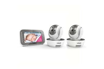 Vtech BM4500 LCD Pan/Tilt Colour Video/Audio Safety Baby Monitor w/ 2x Camera