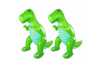 2PK Bigmouth Inc Ginormous 6ft Inflatable Dinosaur Yard/Garden Water Sprinkler