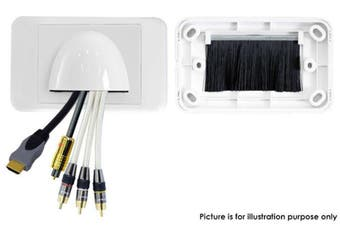 Front Facin Bull Nose Wall Plates Cable Tidy Management Bullnose Wallplate White