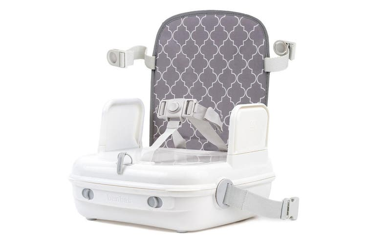 BenBat YummiGo 3 in 1 Feed & Go Booster/Storage Case Baby/Kids High Chair Grey