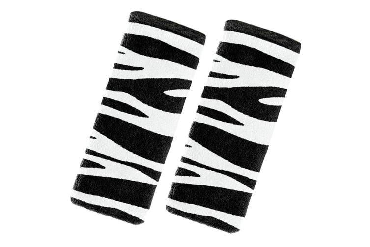 Benbat Zebra Pals Car Seat Belt Safety Cover 1-4y Baby/Kids/Child Strap BLK/WHT