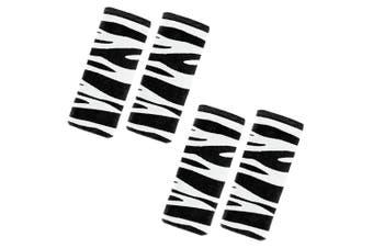 2PK Benbat Zebra Pals Car Seat Belt Safety Cover 1-4y Baby/Kids Strap BLK/White