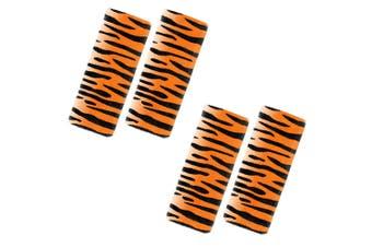 2PK Benbat Tiger Pals Car Seat Belt Safety Cover 1-4y Baby/Kids Strap Black/OR