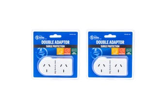 2PK The Brute Power Co Flat Right Double Plug Surge Protector Socket Adaptor