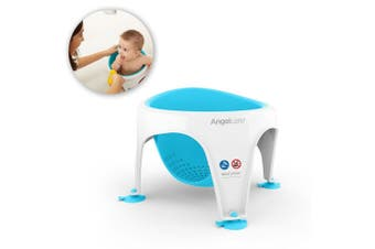 Angelcare Bath/Shower Support Ring Seat Baby/Infant Bathing 6m-12m Aqua Blue