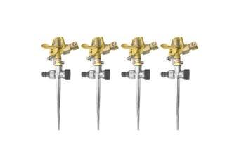 4PK Impulse Sprinkler Metal Water Lawn/Garden Spray/Irrigator/Watering for Hose