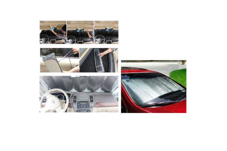 2PK Car Windscreen Sun Visor Reflective Shade/Heat Interior Windshield Foldable