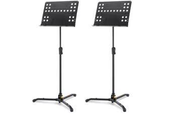 2PK Hercules Tripod Orchestra Music Sheet Stand Adjustable w Folding Desk/Swivel