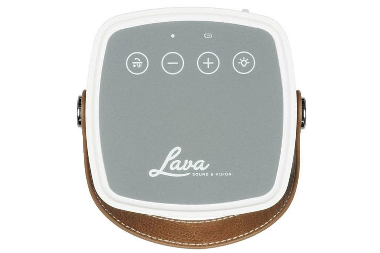 Lava BrightSounds 2 Wireless Bluetooth Speaker w/LED Lamp / USB Charger Mustard