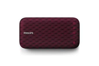 Philips EverPlay Wireless Waterproof Portable Bluetooth Speaker w/ Mic Burgundy