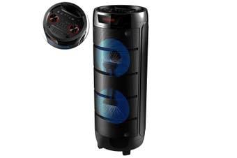 Lenoxx Portable PA Bluetooth Wireless Speaker AUX/USB/FM Radio Stereo w UHF Mic