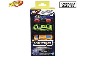 3pc NERF Nitro Foam Car Vehicle Kids/Children Boys 5y+ Play Toys Assorted Colour