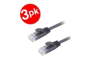 3PK Sansai 10m CAT6 Networking Patch Cable Ethernet Internet for PC/MAC Router