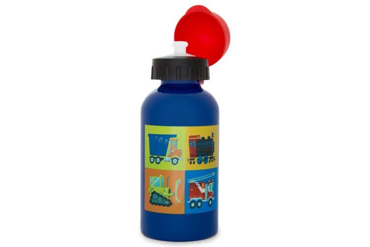 Crocodile Creek Vehicles 400ml Drink Water Bottle/Kids Children 3y+  Blue