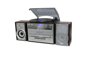 Lenoxx Turntable Player/Recorder/MP3 decoder/Record/cassette/AM/FM radio - Brown