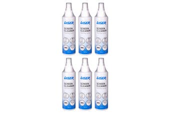 6PK Laser 250ml Cleaning Spray Cleaner for Electronics/Laptop Monitor PC Screens