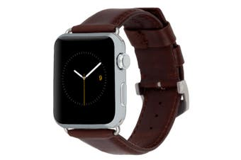 Case-Mate Signature Leather Watch Strap Wrist Band for 42-44mm Apple Watch Brown