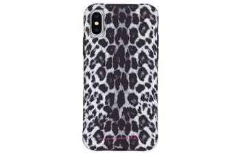 "Case-Mate Wallpaper Street Case Phone Cover For iPhone X/Xs 5.8"" Gray Leopard"