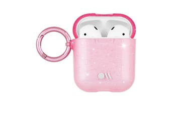 Case-Mate Hookups Case/Cover for Apple AirPods with Ring Clip/Neck Strap Pink