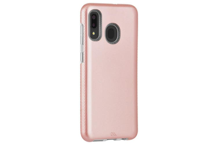 Case-Mate Tough Grip Case Phone Cover For Samsung Galaxy A20|A30 Rose Gold